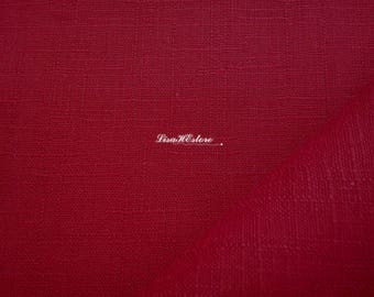 Dark red, dobby woven, fat quarter, pure cotton fabric