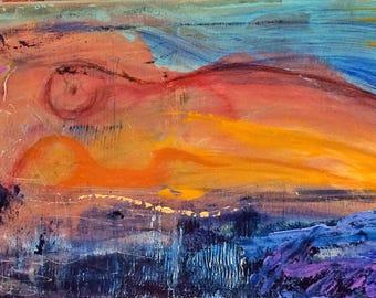 """Original Acrylic Painting: """"Magdalene"""""""