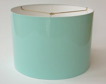 High Gloss Robin's Egg Blue Lamp Shades