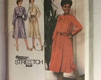 Vintage 1979 Simplicity 9161 Midi Dress Sewing Pattern Size K 8, 10 & 12 Bust 31.5-34