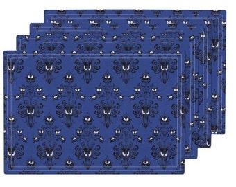 Disneyland's The Haunted Mansion Damask 4 Custom 13x19 Placemats!!