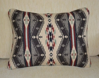 Southwestern Home Decor Wool Pillow Cover handmade of Spirit of The People Pendleton blanket weight wool decorative accent pillow cover sham