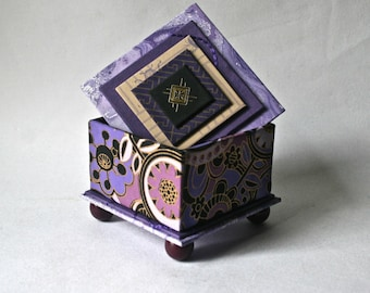 Ring in 2017 - Handmade Box in Shades of Purple for Gift and Decor