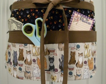 Teacher Aprons-Crafter Vendor Utility Apron-Cool Cats