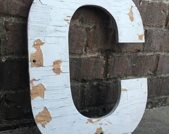 """C - a 15"""" tall wooden letter"""