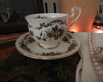 Vintage Bone China England Tea Cup and Saucer