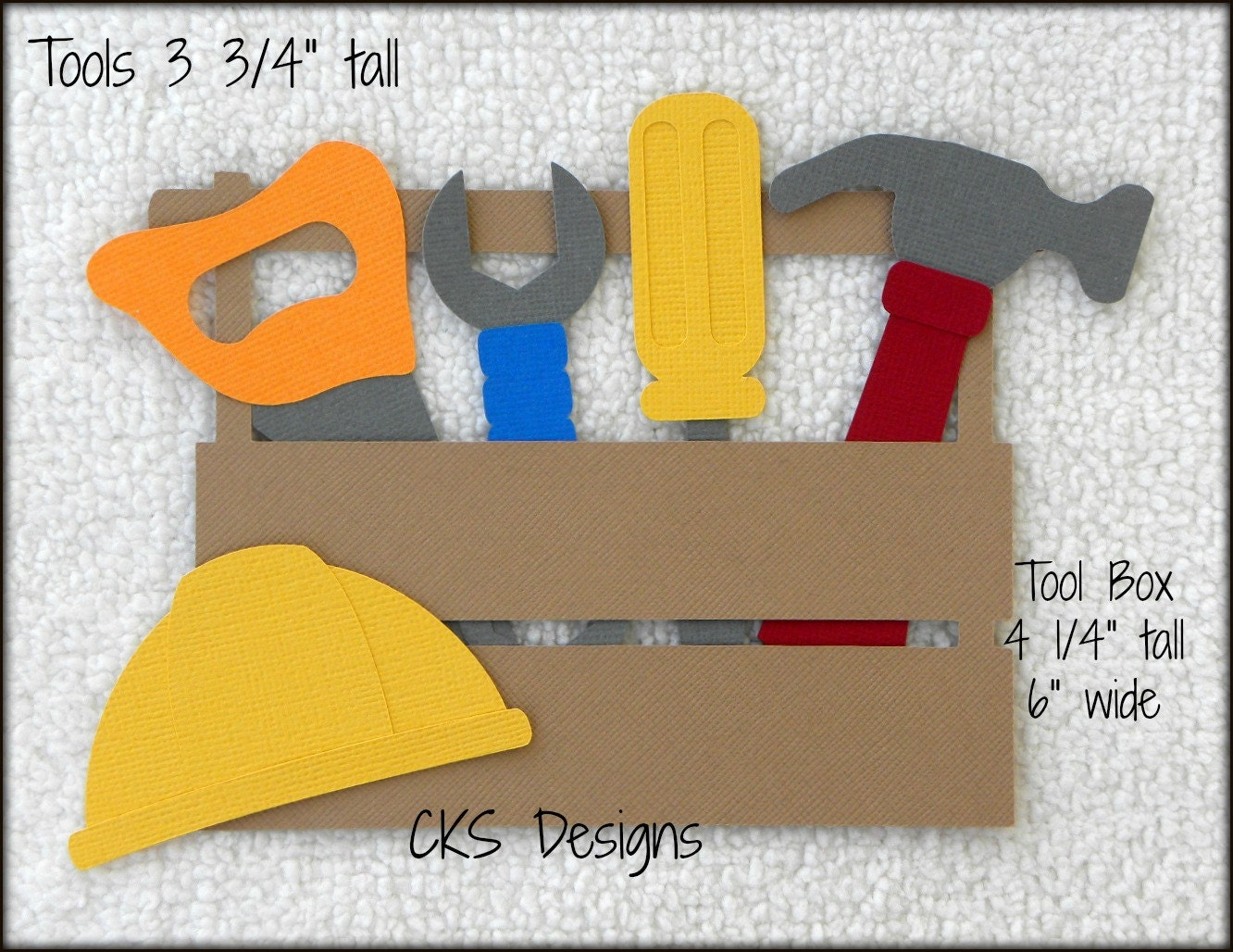 Die Cut Tool Box Amp Tools Scrapbook Page Embellishments For
