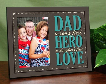 Dad Printed Frame, father's day gift, dad frame, photo frame, hero, love, keepsake, wooden frame -gfy475496