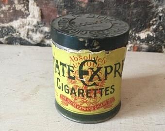 Vintage advertising tin cigarettes state express tin