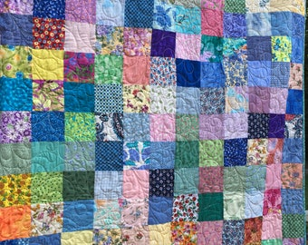 Spring Quilts - Queen size Quilts - Wedding Gift - Traditional Patchwork Quilts  8