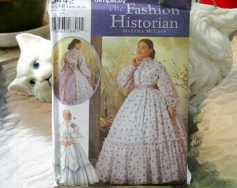 Simplicity 4900 Adult Civil War Dress Costume sz 10-18 Uncut
