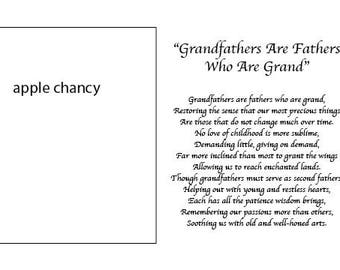 Grandfathers Day, 5x7 photo mat with poem