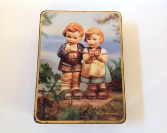 Hummel Collectible Tin, Vintage Tin, Vintage Hummel Metal Tin