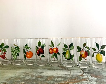 Set of 8 cocktail glass - Mid century modern