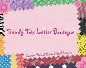 Reserved for Rose Saenz - Custom letters for Jadi