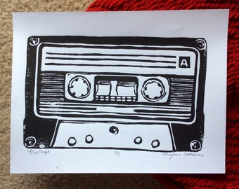 Colorful Cassette Tape Print