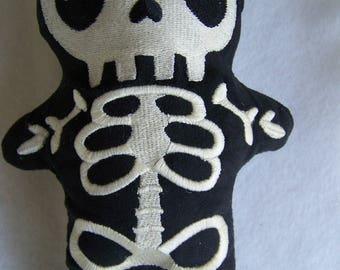 Solar Active Skelly Plushie/Skeleton Plushie/Skelly Stuffie/Skeleton Stuffie/Goth Plushie