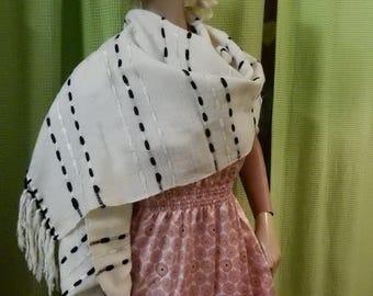 Shawl, Wool, Italian, Handmade, Vintage