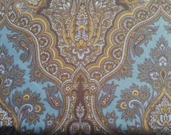 Wharton by Rosemarie Lavin design for Windham Fabrics beautiful deigns in tans and greens on blue