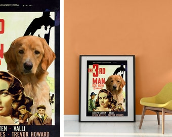 Hovawart Art Print Fine Art Canvas - The Third Man Movie Poster NEW COLLECTION by Nobility Dogs