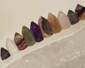 Fluorite Mini Points, Side Drilled, 10 pcs, Energetic Stones, mini#4