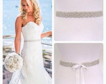 Crystal wedding belt sash wedding dress belt, bridal belt