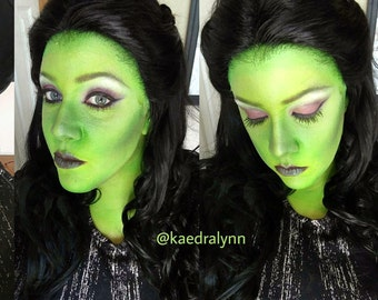USED Elphaba Hand-Tied Green Lace Fronted Hairline - Realistic Hairline w/ Rare Green Lace - Ready to Ship
