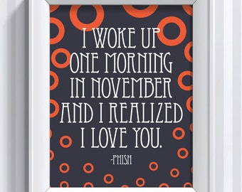 Phish Lyrics - Contact - 11x14 - poster print