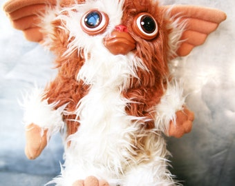 Vintage Gremlins Gizmo Plush Doll / Hasbro Softies 1984 / Vintage Gizmo Toy / Gizmo Stuffed Animal / Vintage Gremlins Stuffed Animal / 80's