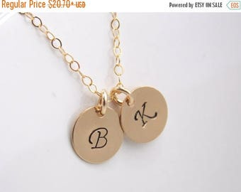 SALE SALE Initial Necklace, Personalized Necklace, Initial Jewelry, Gold Filled Monogram Charm, Daily Jewelry, Bridesmaid Necklace, Grandma,