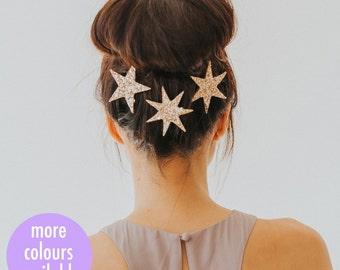 Glitter Star Clip Trio