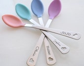 Baby Spoon Set - Engraved Baby Spoons