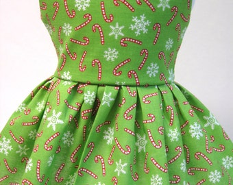 Candy Canes and Snowflakes, Winter and Holiday Dress