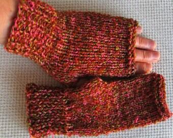 knit fingerless gloves, arm warmers, fingerless mitts, knit gloves, knit mittens, arm warmers, gifts for women, wrist warmers, ready to ship