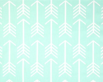 1 Yard Mint Arrow Fabric - Premier Prints-  Mint and White Arrow - Fabric by the Yard