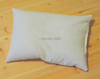 Mac's Natural Organic Buckwheat Hull Travel Pillow, No Zipper