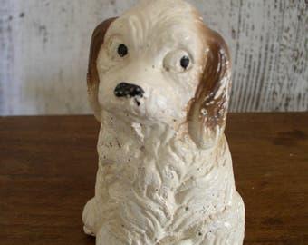 Vintage Chalkware Dog Figurine