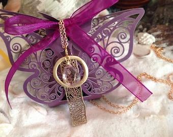 14k Gold Filled Amethyst Necklace