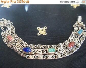 Now On Sale Vintage 1950's Stone Bracelet Collectible Jewelry