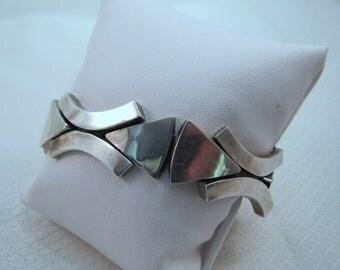 Mid Century Modernist Reveriano Castillo, Reveri Castilo Sterling Link Bracelet