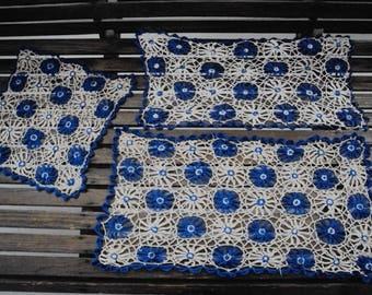 Antique Thread Crochet Doily Set ~~ Oh, Granny!!