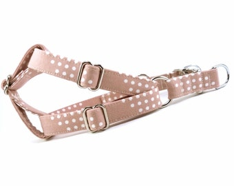 Rose Dots Dog Step in Harness