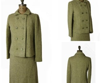 1960s Green Wool Suit Set
