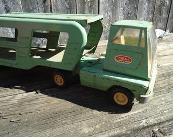 Vintage Metal Tonka Truck Car Hauler