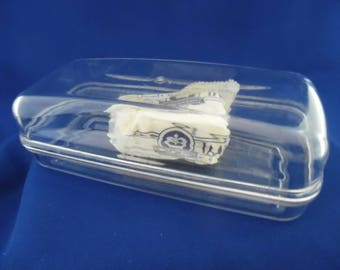 Clear Plastic Butter Dish