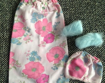 Handmade Nightgown for Barbie - Pink Floral