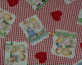 Mabel Lucie Attwell Cotton Fabric  3 1/2 yards