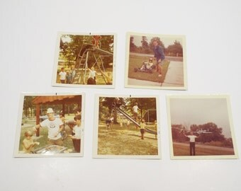 Vintage Lot of 5 Color Snapshots