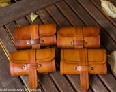 Tan Leather Belt Bag with Bottles