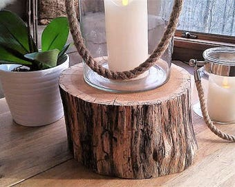 Wood tree stump - Rustic wedding decor - Tree log - Thick tree slice - Wood cake stand - pedestal - Plant stand - Pedestal - Trophy display